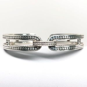 John Hardy Diamond Dot Kick Cuff Bracelet .925